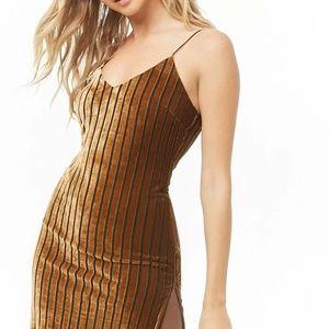 Forever 21 Velvet Striped Dress - Size S